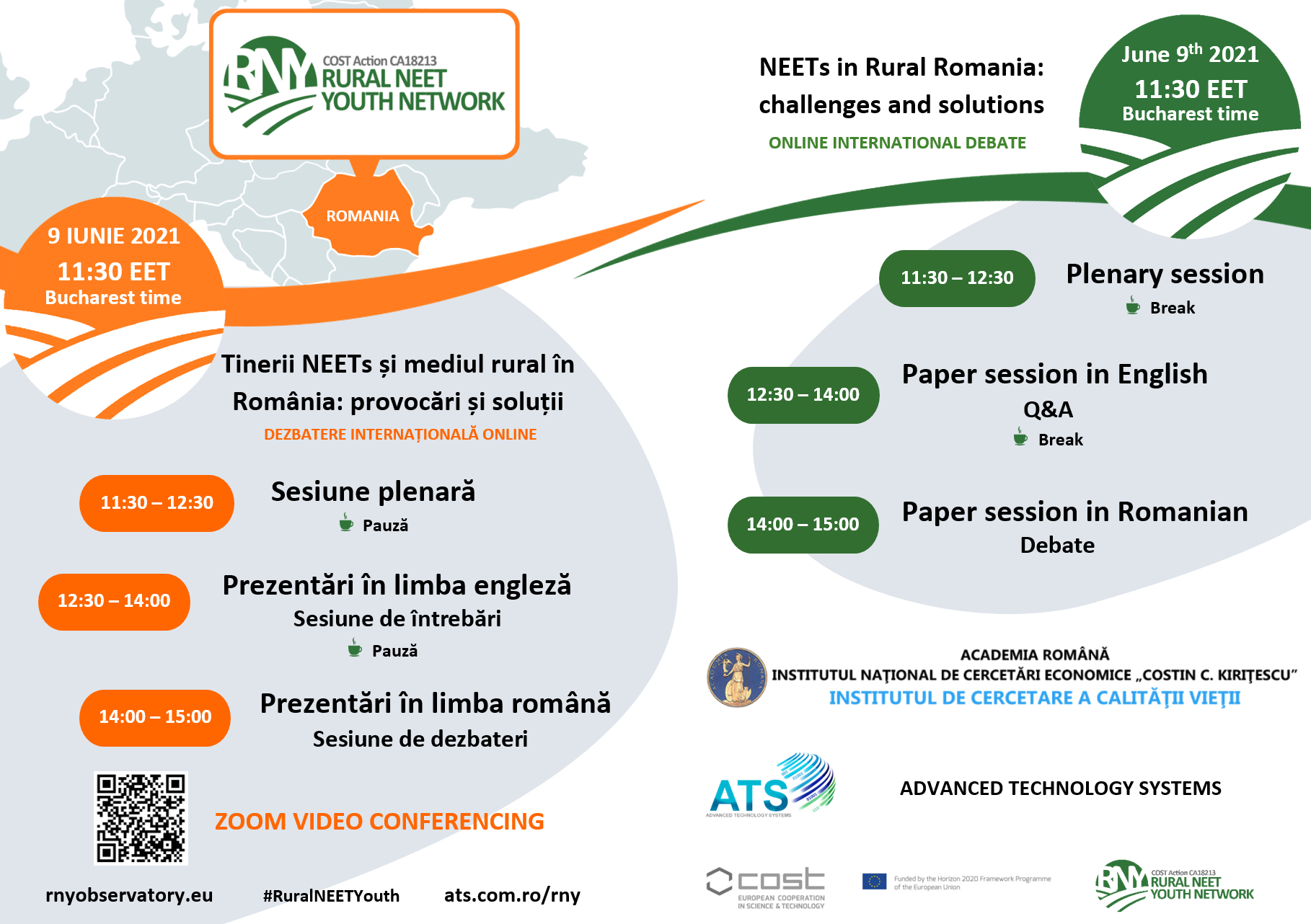 """Dezbatere internațională 'Tinerii NEETs și mediul rural în România: provocări și soluții"""""""